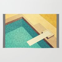pool Area & Throw Rugs featuring Pool by Herb Vaine