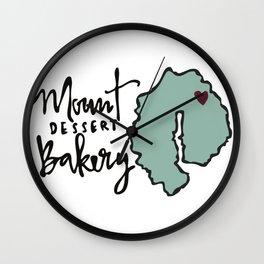 Mount Dessert Bakery Logo Wall Clock