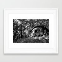 cabin Framed Art Prints featuring cabin by imikedunphy