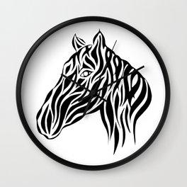 Tribal Horse Design Wall Clock