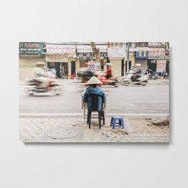 The passing of time in Hanoi, Vietnam Metal Print