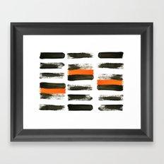 orange stripes Framed Art Print