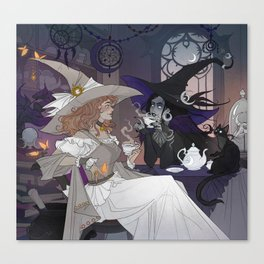 Solar and Lunar witches Canvas Print
