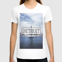 detroit T-shirts featuring Detroit Typography by Evan Smith
