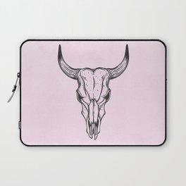 Southwest Skull Black on Pink Laptop Sleeve