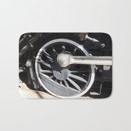 Locomotive 2355 Steam Engine Wheel 1912 Bath Mat