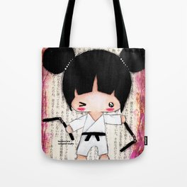 Martial Arts Girl Tote Bag