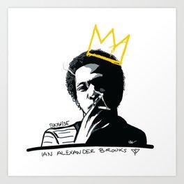KING SKYWISE IAN Art Print