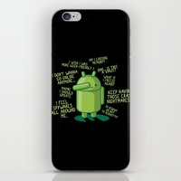 android iPhone & iPod Skins featuring PARANOID ANDROID by Letter_q