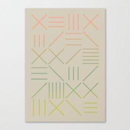 Geometric Shapes 11 Gradient Canvas Print