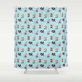 Zombie Cats Shower Curtain