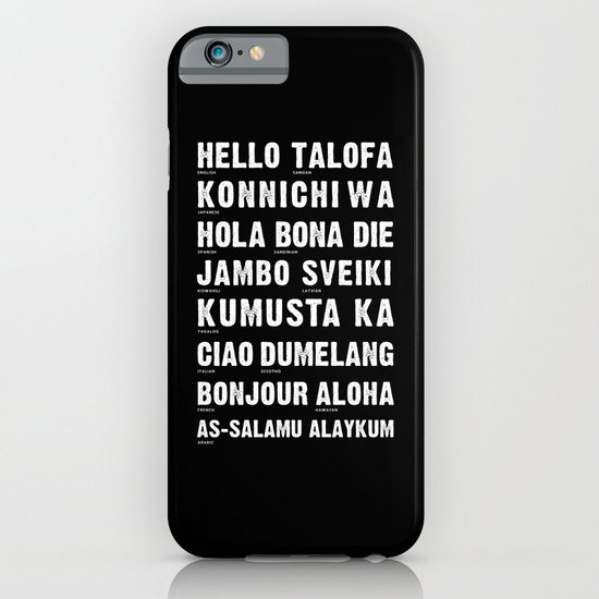 Hello Language iPhone & iPod Case