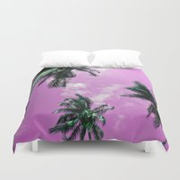 palm trees Duvet Covers featuring Palm trees by Nicklas Gustafsson