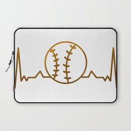 Baseball Heartbeat Laptop Sleeve