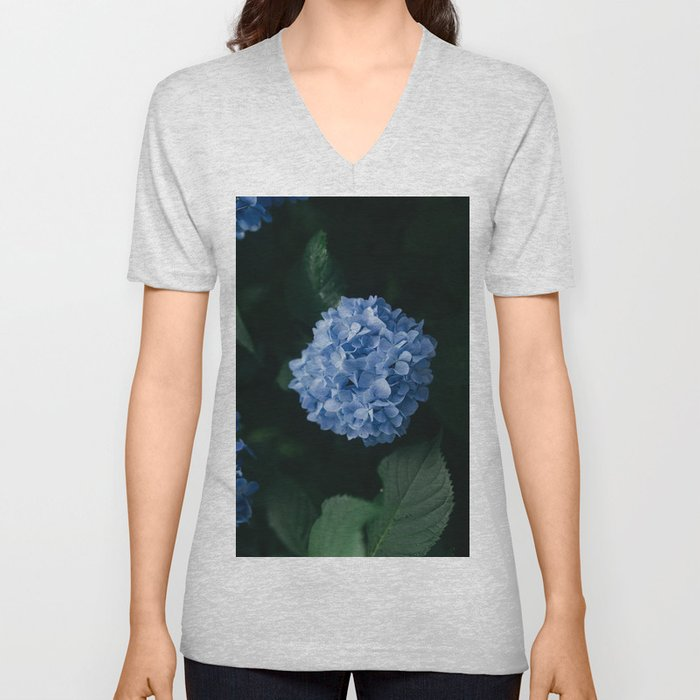 Beautiful Blue Hydrangea Unisex V-Neck