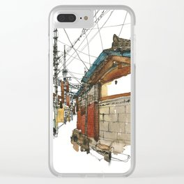 vintige city-seoul Clear iPhone Case