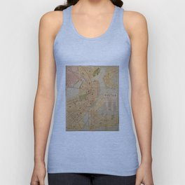 Vintage Map of Boston MA (1902) Unisex Tank Top