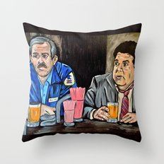 Cheers to Cliff and Norm Throw Pillow