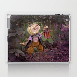 Rucus Studio Pumpkin Man and Fireflies Laptop & iPad Skin