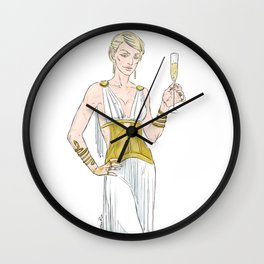 shampagne Wall Clock