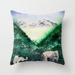 Eastern Himalayas Throw Pillow