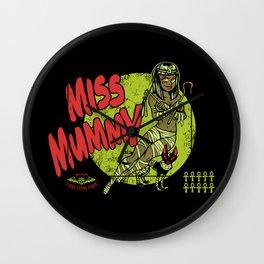 Miss Mummy Wall Clock