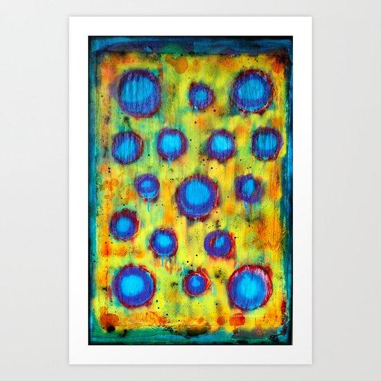 Blowing Technicolor Bubbles  Art Print