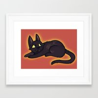 kiki Framed Art Prints featuring Kiki by StickyHunter