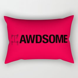 AWDSOME v4 HQvector Rectangular Pillow