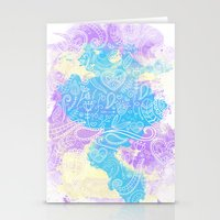 watercolour Stationery Cards featuring Watercolour by Mummy Maid Designs