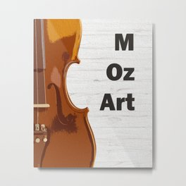 Violin and Mozart - classical music oil painting poster Metal Print