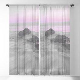 OCEAN WAVES XI Sheer Curtain