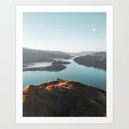 Roys Peak New Zealand Art Print