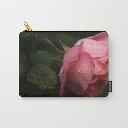 Pink rose. Raindrops on petals. Carry-All Pouch