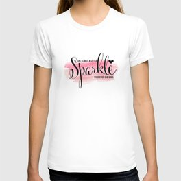 She Leaves A Little Sparkle Wherever She Goes by Jessica Kirkland T-shirt