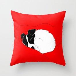 snoozer Throw Pillow