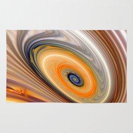 Abstract swirl rainbow background Rug