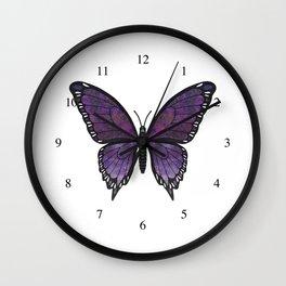 purple vanessa (Vanessae purpura) Wall Clock