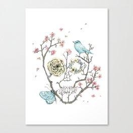 Sakura Skull Canvas Print