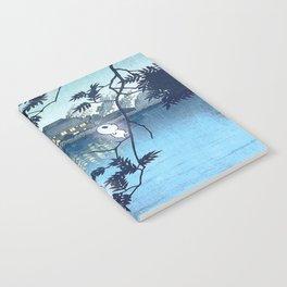 Kodama, Forest spirits vintage japanese woodblock mashup Notebook