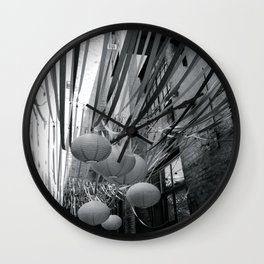 Lanterns and Streamers Wall Clock