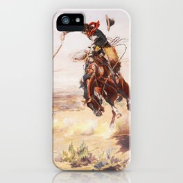 A Bad Hoss Charles Marion Russell iPhone Case