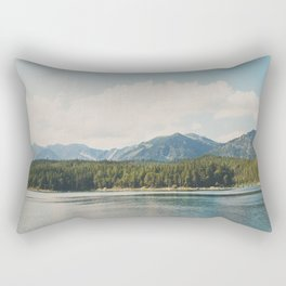 in the shadow of the Alps Garmisch photograph Rectangular Pillow