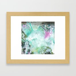 The Queen's Tear - Square Abstract Expressionism Framed Art Print