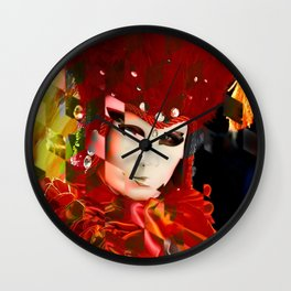 Mysterious Red Wall Clock