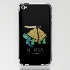 ninja - blue iPhone & iPod Skin