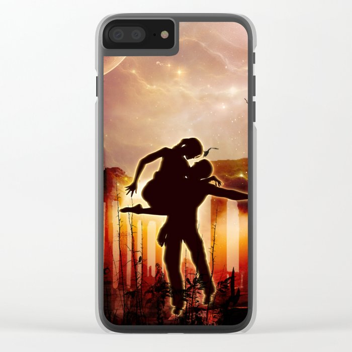 Dancing in the night Clear iPhone Case
