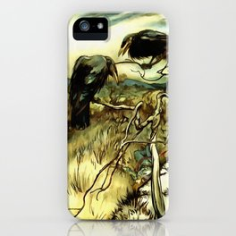 The Two Crows iPhone Case