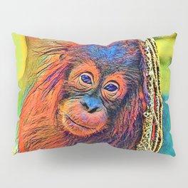 AnimalColor_OrangUtan_001_by_JAMColors Pillow Sham