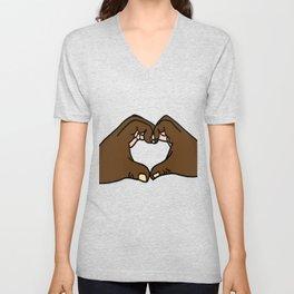 Heart Hands Unisex V-Neck